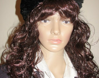 Vintage Black Fur Hat by Miss Alice Lord and Taylor