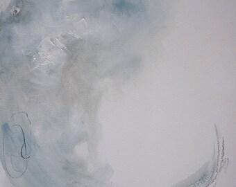 Swept Under - Abstract Art - Mixed Media on Paper - Original Art