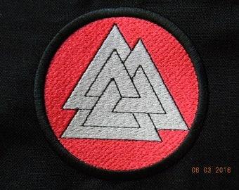 Valknut Machine embroidered patch - 4inch