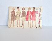"1960s Coat & Dress Pattern Simplicity 7878 Size 16-1/2 Bust 39"""