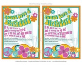 Custom Hippie Birthday Invitation & Printing