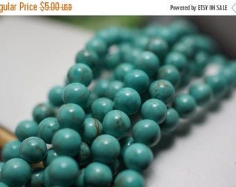 PRE-XMAS SALE New - Small Turquoise Round Beads - 4mm - 50 pcs