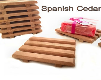 LIMITED OFFER - 20 aromatic Spanish cedar wood soap dishes -  1.19 each - reg. price 1.75 each