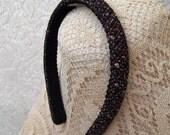 LAST ONE jewel tone boucle headband narrow