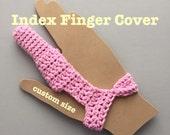 Index Finger Injury Finger Cover - Finger Bandage  - Amputation Bandage - Long Term Bandage - Custom bandage