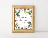 amour de ma vie, Love of My Life French Quote, French Quotes, LOVE Art, Love Quotes, Love Art, INSTANT DOWNLOAD, Inspirational Love Art