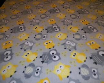 Owl Fleece Throw Blanket