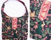 1980s purse vintage 80s embroidered rabbit fox novelty print tapestry shoulder bag