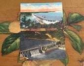 Bagnell Dam Postcards Vintage Souvenir Photos Lake of the Ozarks Missouri Travel USA