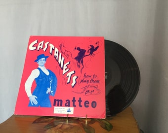 Castanets Record Vintage Learn to Play the Castanets Matteo