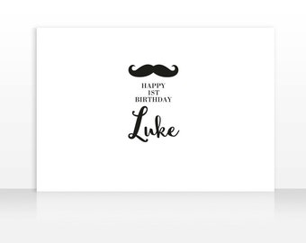 Mustache Backdrop, Mustache Banner Birthday, Little Man Birthday Backdrop, Large Scale Backdrop Printable, HIGH RESOLUTION FILE