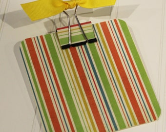 Post-it Note Holder- Bright Stripes