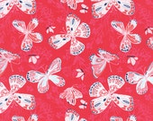 Rose Aria Fabric -  Moda - Kate Spain - 27230 15 - Butterflies and Flowers