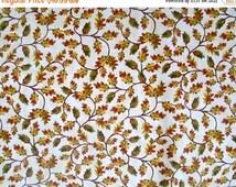 ON SALE Cream Oak Leaf Autumn Fall Harvest Fabric - Timeless Treasures - C2196
