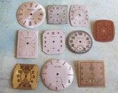 Vintage Antique Watch  Assortment Faces - Steampunk - Scrapbooking g21
