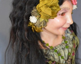 The Green Witch OOAK Artist Doll by ODACA Artist Stevi T