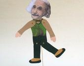 Albert Einstein Stick Puppet Greeting Card