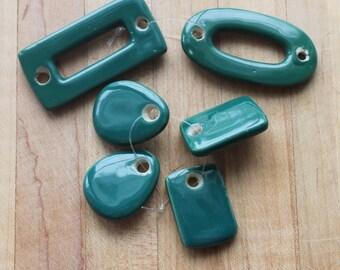 green/orange/blue ceramic pieces,green ceramic jewelry pieces,orange ceramic jewelry pieces,sky blue ceramic jewelry pieces,ceramic pieces