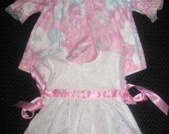 Doll Dress and Pinafore..Sewn