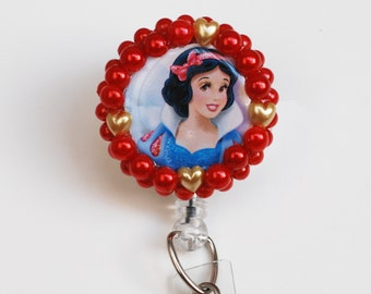 Disney's Princess Snow White ID Badge Reel - Retractable ID Badge Holder - Zipperedheart