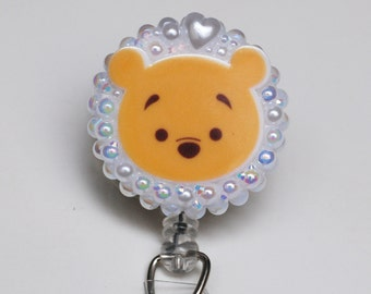 Winnie The Pooh Tsum Tsum ID Badge Reel - Retractable ID Badge Holder - Zipperedheart