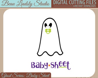 Baby Sheet Funny Ghost SVG, Funny Halloween SVG, Ghost Pun SVG file for Silhouette, Baby Halloween Costume svg for Cricut, Adult Costume svg