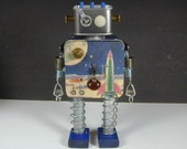 FOSSIL 1  Found Object  Robot Sculpture Assemblage