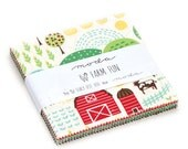 SUMMER SALE - In Stock - Charm Pack - Farm Fun - Stacy Iset Hsu - Moda Fabrics