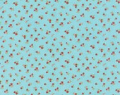 YEAR END SALE - 1 yard - Little Ruby -  Little Quirky in Aqua (55131-12) - Bonnie and Camille for Moda Fabrics