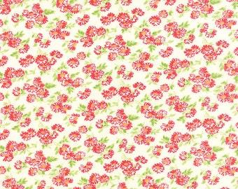 SUMMER SALE - 1 yard - Little Ruby -  Little Daisy in Cream (55137-17) - Bonnie and Camille for Moda Fabrics