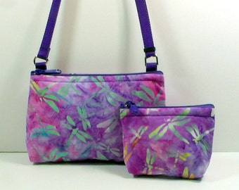 Cross Body Bag with Change Purse / Cell Phone Bag