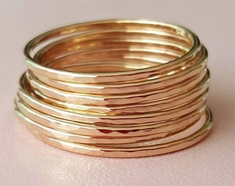 Gold Rings super thin ring gold filled stackable rings