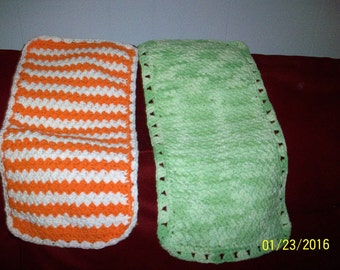 Crocheted Baby Burp Cloths