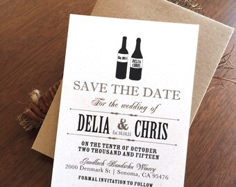 Wine Wedding Save The Date
