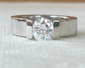 Niessing Platinum Engagment Ring .90 carat Diamond