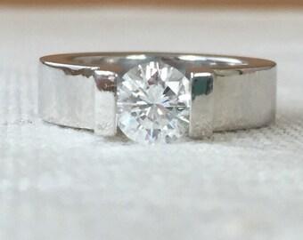 Niessing Platinum Engagment Ring .90 carat Diamond