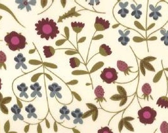 liberty tana lawn fabric - mirabelle c - purple and blue - one metre