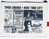 Retro Vintage NYC Times Square Gay Art Porn Bag pouch bank pencil
