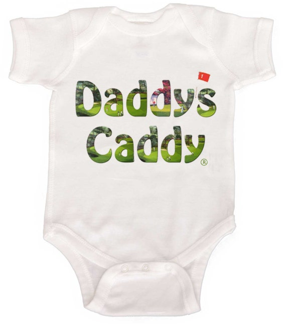 Daddys Caddy Golf Baby Bodysuit Infant One Piece Bodysuits NewBorn Rompers to Kids Tees