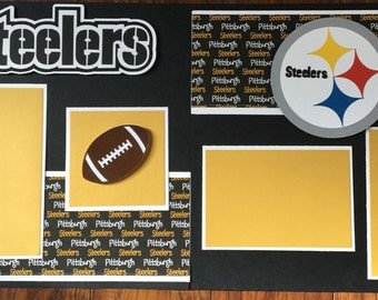 Steelers Premade 2 page 12x12 scrapbook layout