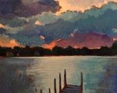 """Morning Gathering - Original Acrylic Landscape Painting- 24""""x 24"""""""