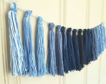 Tassel Garland No. 6 - Blue Ombre - Ready to Ship