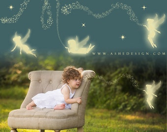 Pixie FAIRY OVERLAYS plus Photoshop Fairy Dust Brushes, Fairy Wings, Fairy Photo Overlays, Digital Fairies, Pixie Dust Brushes