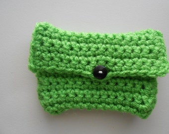 Crochet Coin Purse Money Holder Limeade