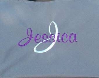 Set of 11 Personalized Embroidered Tote Bags Bridal Party Bridesmaid Gift