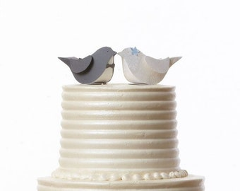 Paper Birds Cake Topper - Favor Boxes - Bride and Groom