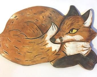 Large Fox Platter/Wall Hanging