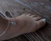Blue Topaz Anklet, Something Blue, December Birthstone Anklet, December Birthday, Blue Topaz Gemstone, Beachy Anklet