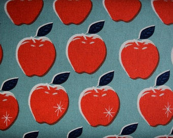 Picnic Apples Cotton and Linen Fabric from Melody Miller for Cotton & Steel sold in 1/2 yard increments
