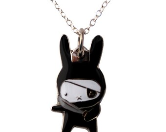 Ninja Bunny Necklace